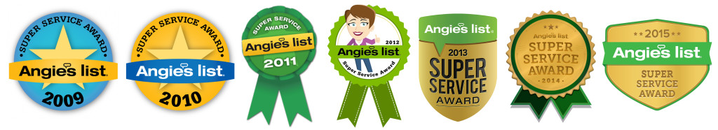Each year Angie's List presents its Super Service Award to businesses that have maintained a superior service rating. Approximately 5% of businesses on Angie's List meet these requirements.