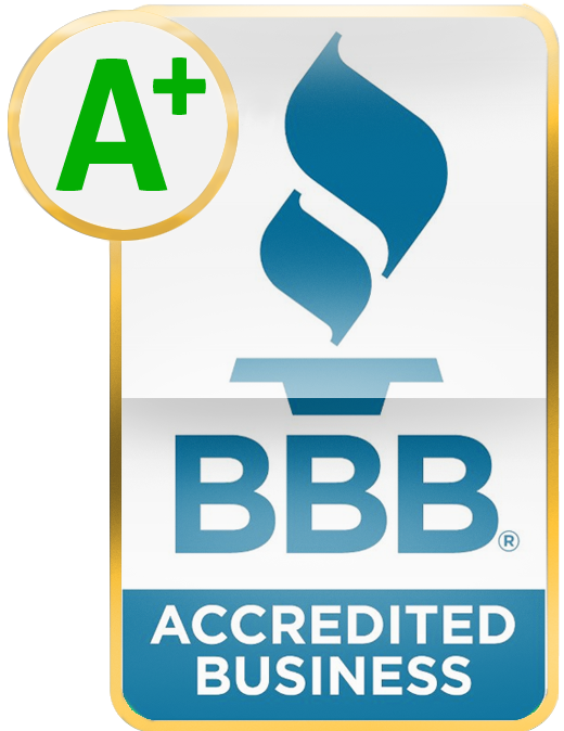 We have an A+ rating with the Better Business Bureau.