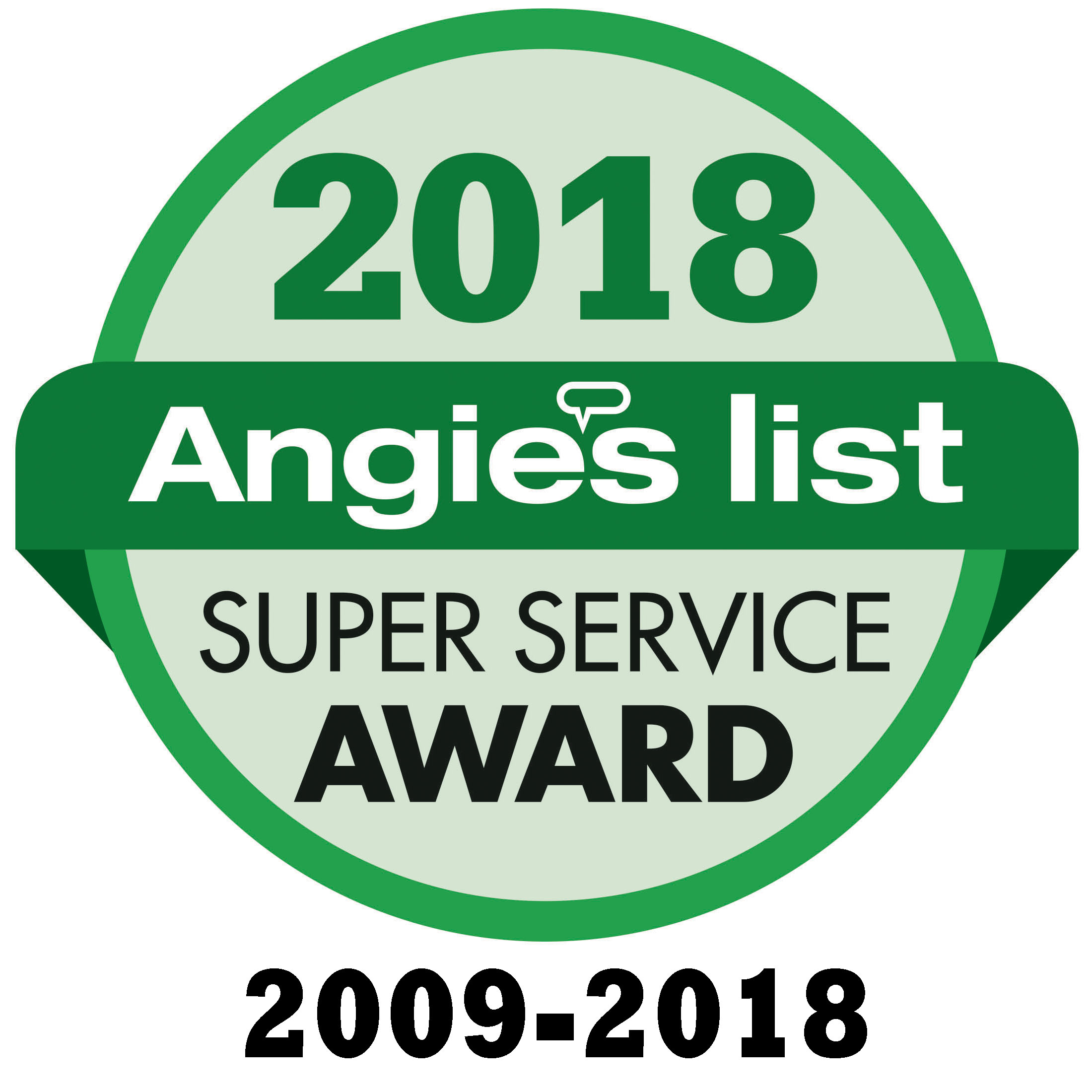 We are a perennial Angie's List Super Award winner.